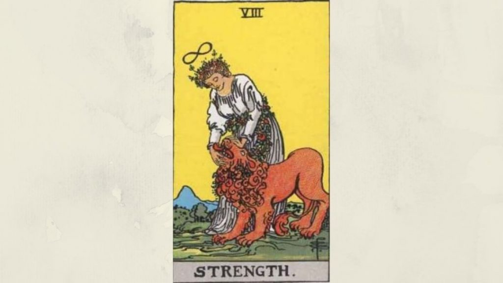 8 Strength - Rider-Waite Major Arcana