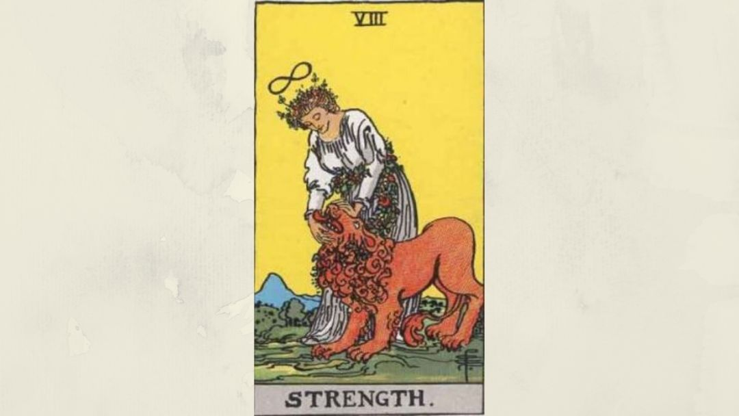 8 Strength - Rider-Waite Major Arcana