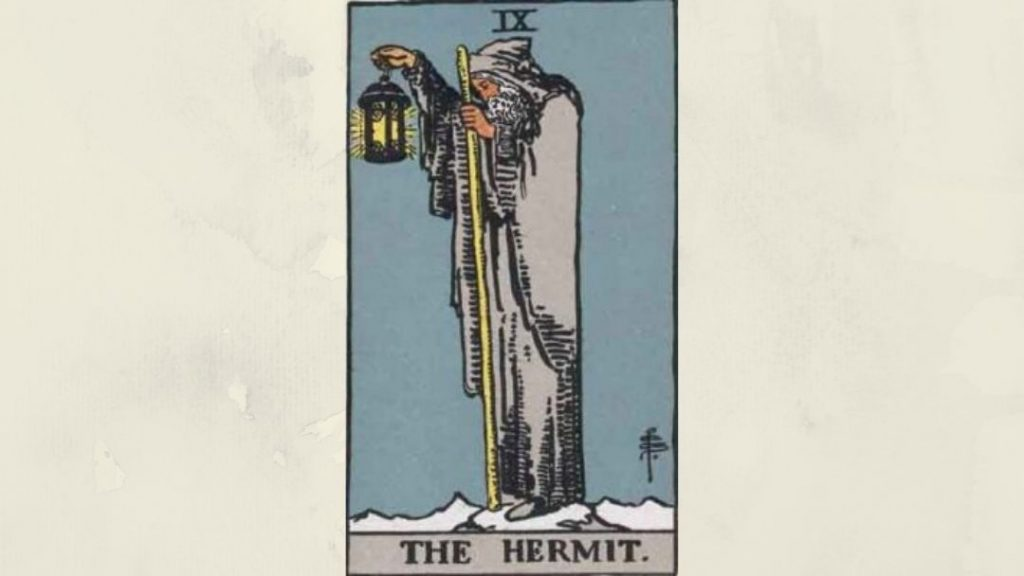 9 The Hermit - Rider-Waite Major Arcana