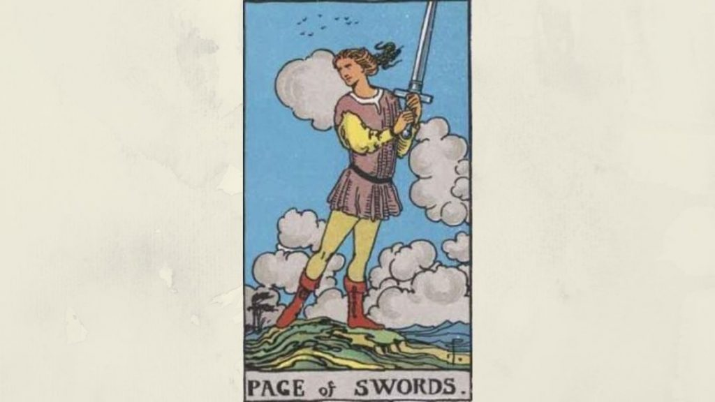 Page of Swords - Rider-Waite Court Card