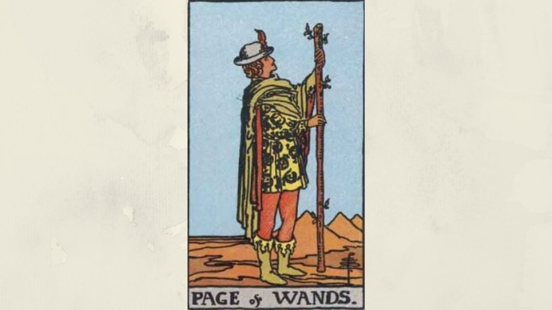 Page of Wands - Rider-Waite Court Card