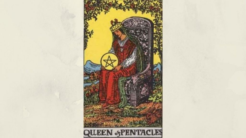 Queen of Pentacles - Rider-Waite Court Card
