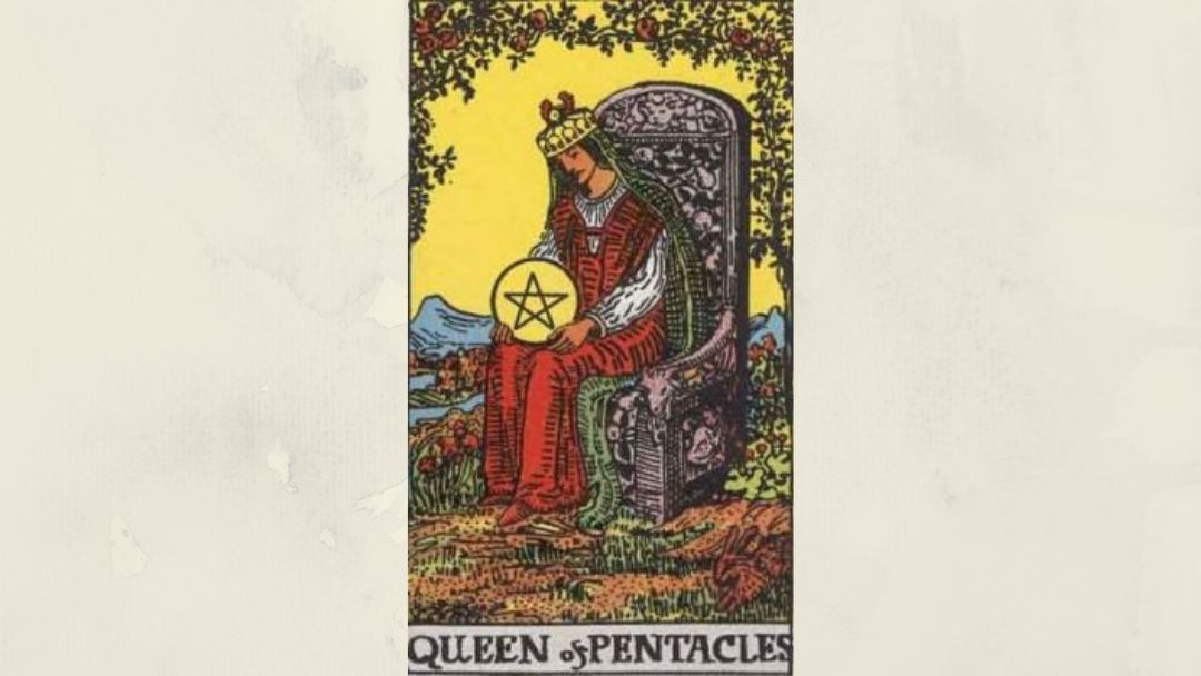 Queen of Pentacles - Rider-Waite Court Card