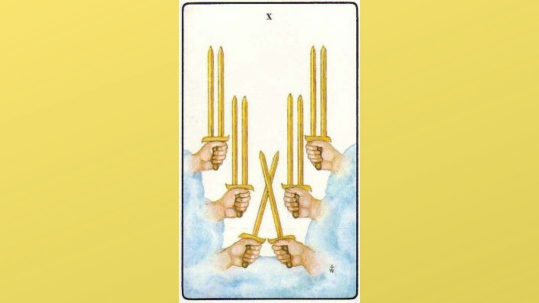 10 of Swords - Golden Dawn Minor Arcana