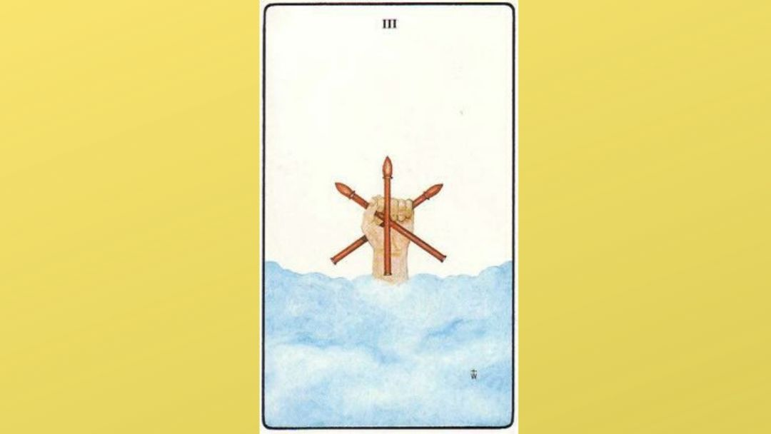 3 of Wands - Golden Dawn Minor Arcana