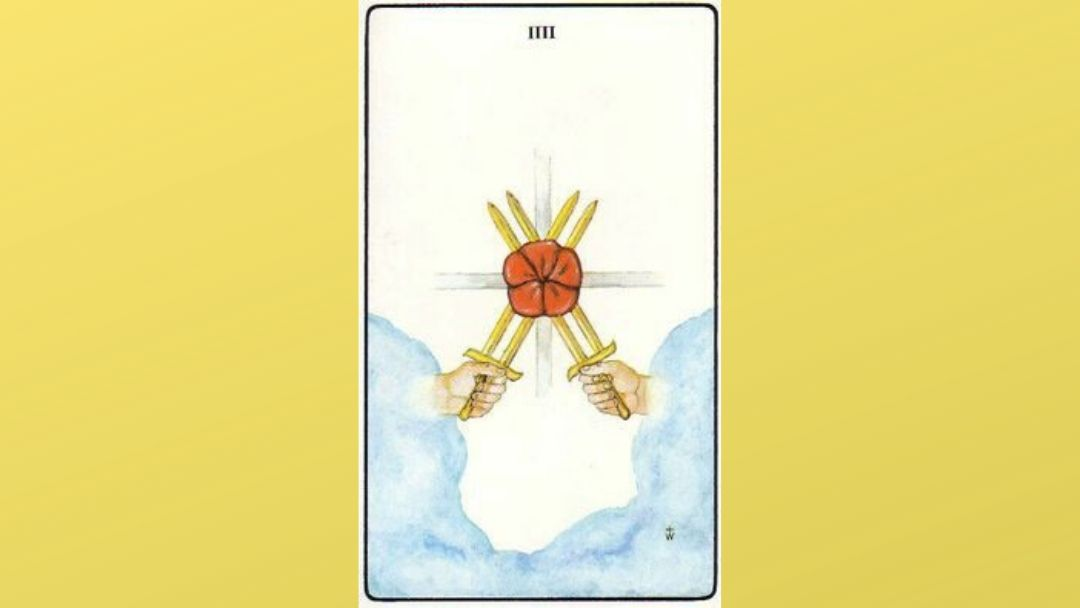 4 of Swords - Golden Dawn Minor Arcana
