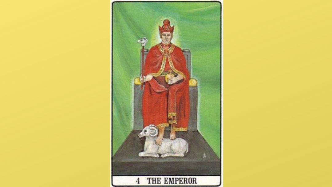 4 The Emperor - Golden Dawn Major Arcana