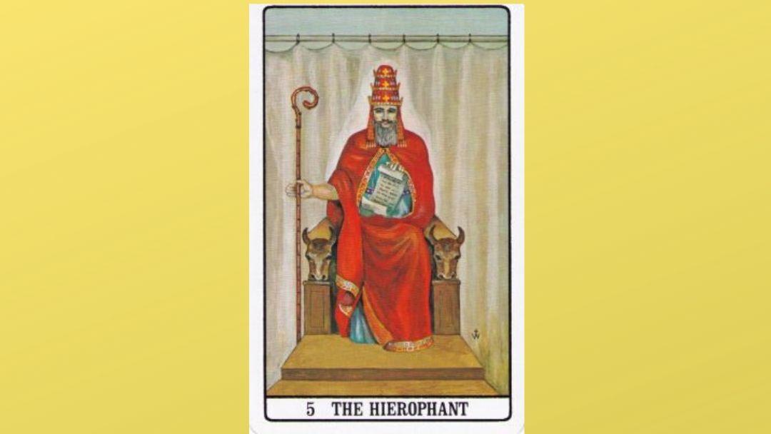 5 The Hierophant – Golden Dawn