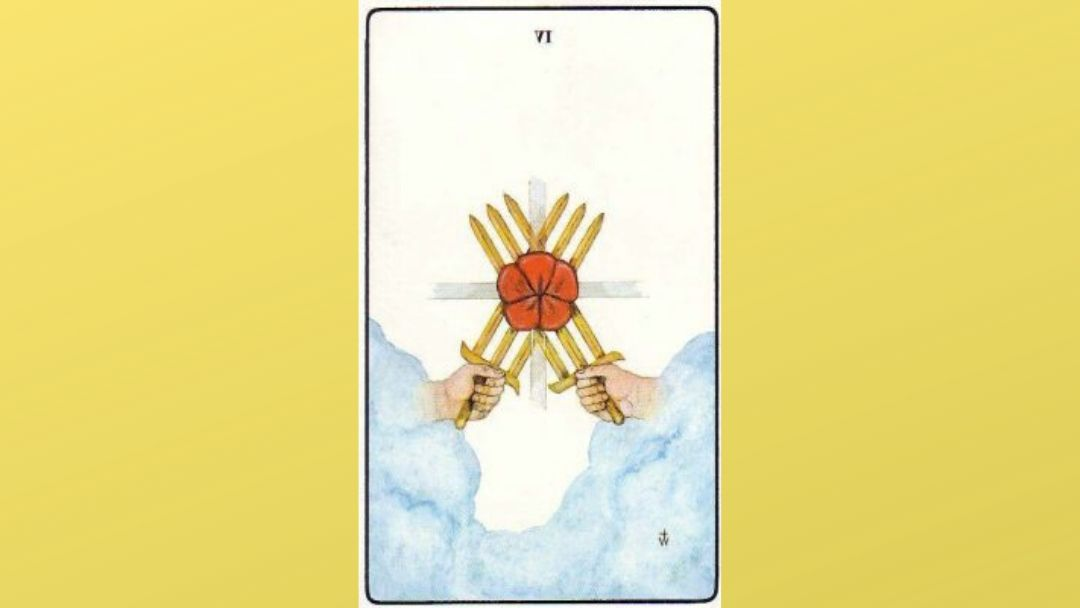 6 of Swords - Golden Dawn Minor Arcana