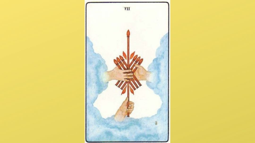 7 of Wands - Golden Dawn Minor Arcana