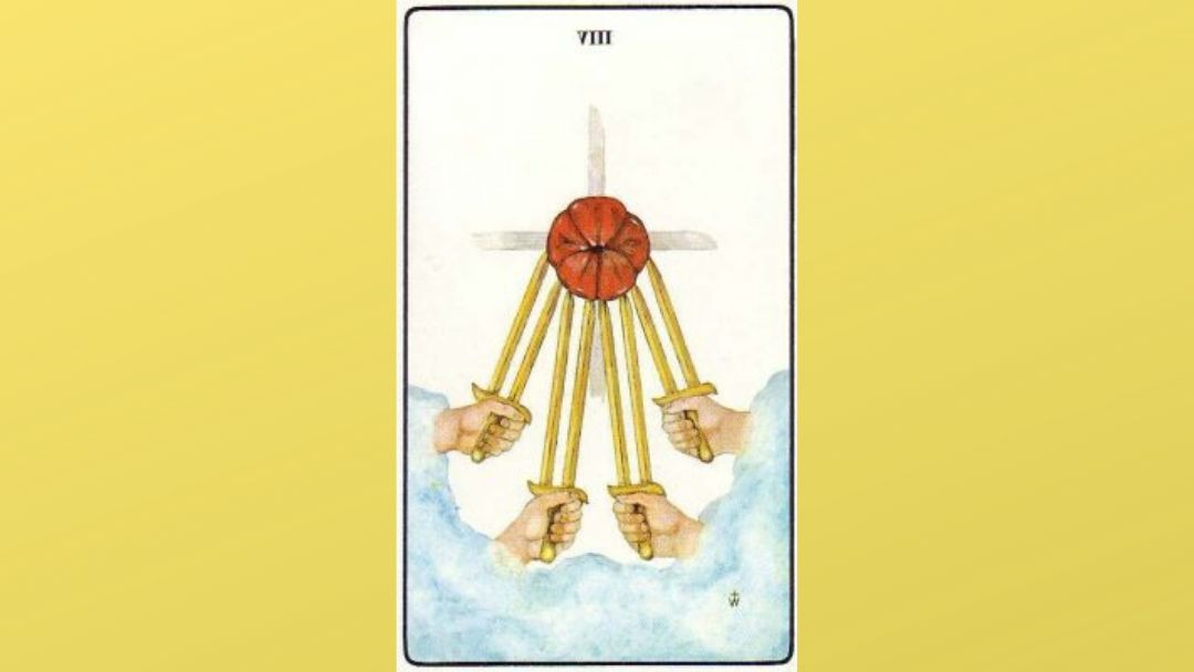 Lord of Shortened Force – 8 of Swords – Golden Dawn
