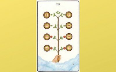 Lord of Prudence – 8 of Pentacles – Golden Dawn