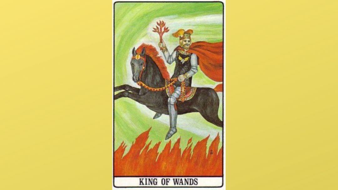 King of Wands - Golden Dawn Tarot