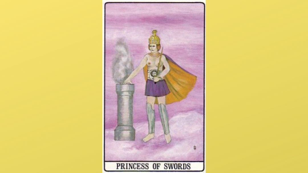 Princess of Swords - Golden Dawn Tarot