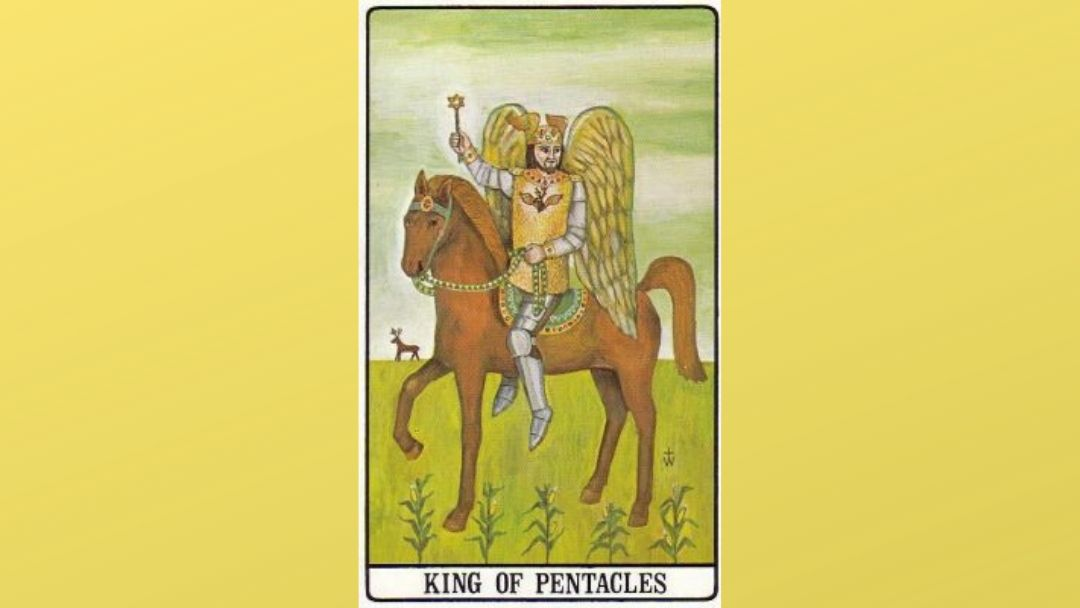 King of Pentacles - Golden Dawn Tarot