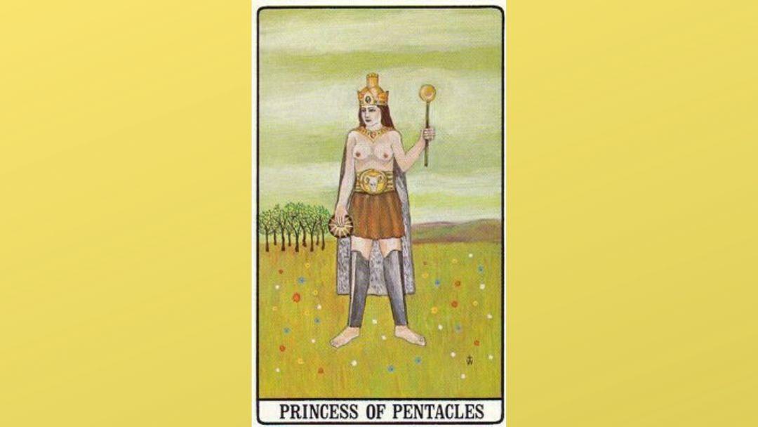 Princess of Pentacles - Golden Dawn Tarot