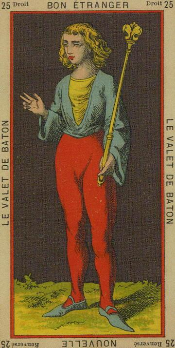 25 Page of Wands The Etteilla Tarot The Book of Thoth