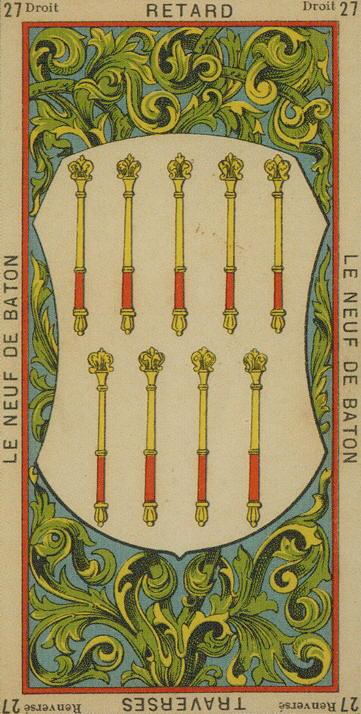 27 9 of Wands The Etteilla Tarot The Book of Thoth