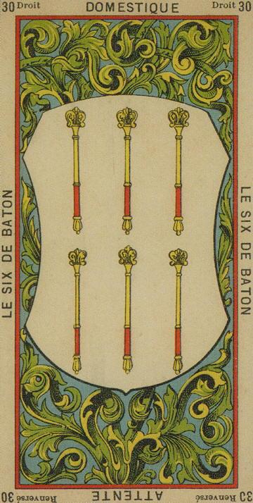 30 6 of Wands The Etteilla Tarot The Book of Thoth