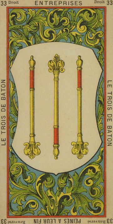 33 3 of Wands The Etteilla Tarot The Book of Thoth