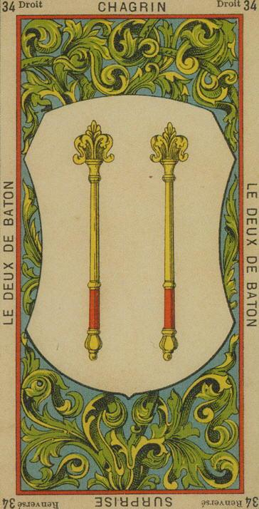 34 2 of Wands The Etteilla Tarot The Book of Thoth