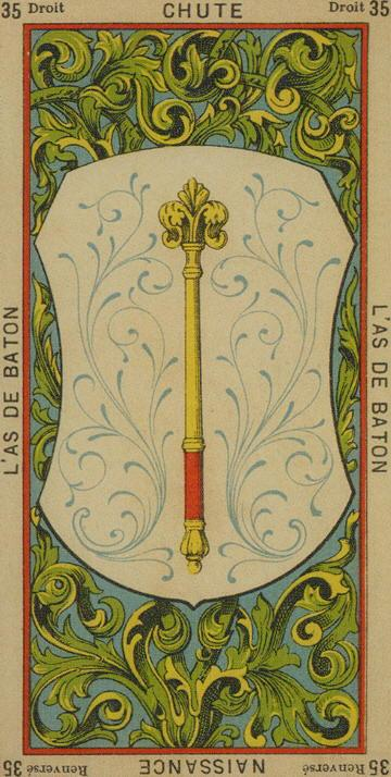 35 Ace of Wands The Etteilla Tarot The Book of Thoth