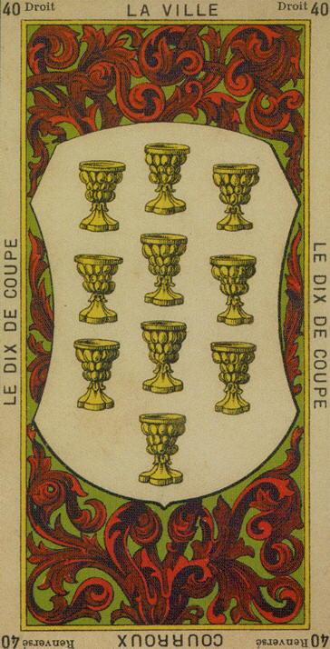 40 10 of Cups The Etteilla Tarot The Book of Thoth