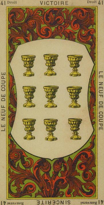 41 9 of Cups The Etteilla Tarot The Book of Thoth