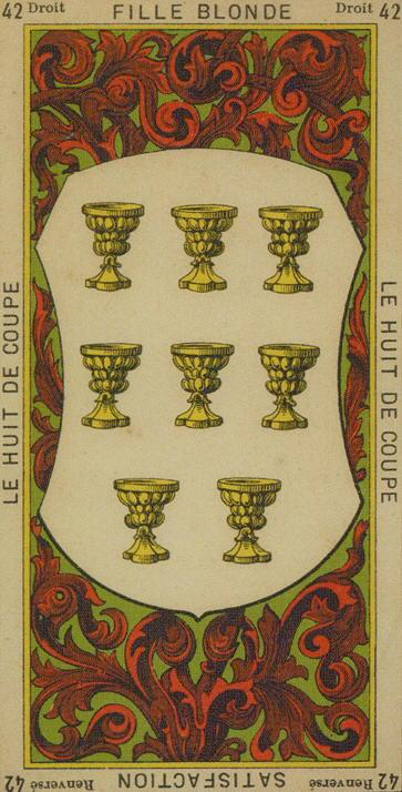 42 8 of Cups The Etteilla Tarot The Book of Thoth