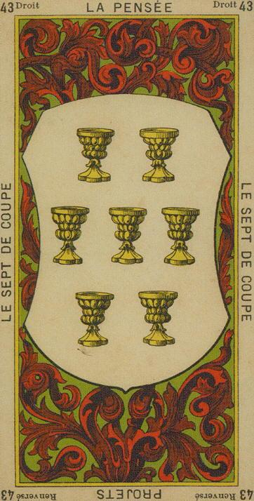 43 7 of Cups The Etteilla Tarot The-Book of Thoth