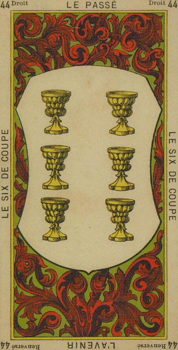 44 6 of Cups The Etteilla Tarot The Book of Thoth