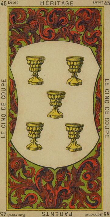 45 5 of Cups The Etteilla Tarot The Book of Thoth