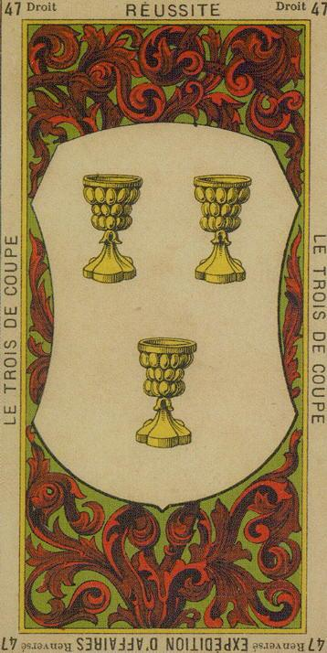 47 3 of Cups The Etteilla Tarot The Book of Thoth