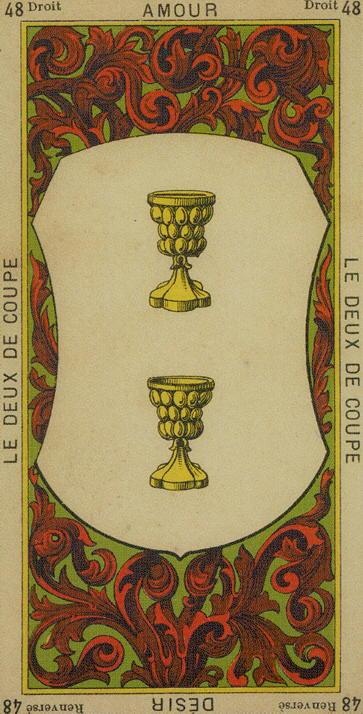 48 2 of Cups The Etteilla Tarot The Book of Thoth