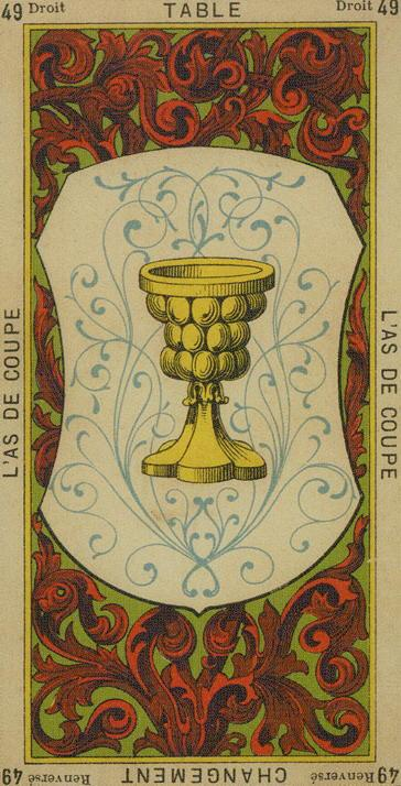49 Ace of Cups The Etteilla Tarot The Book of Thoth