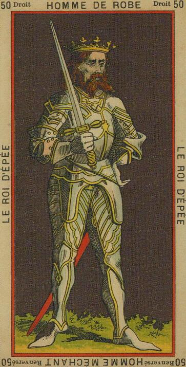 50 King of Swords The Etteilla Tarot The Book of Thoth