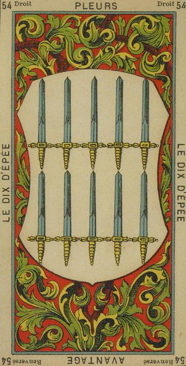54 10 of Swords The Etteilla Tarot The Book of Thoth