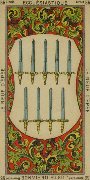 55 9 of Swords The Etteilla Tarot The Book of Thoth