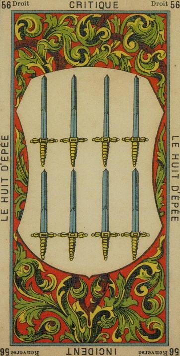 56 8 of Swords The Etteilla Tarot The Book of Thoth