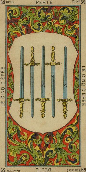 59 5 of Swords The Etteilla Tarot The Book of Thoth