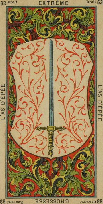 63 Ace of Swords The Etteilla Tarot The Book of Thoth