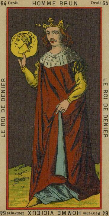 64 King of Coins The Etteilla Tarot The Book of Thoth