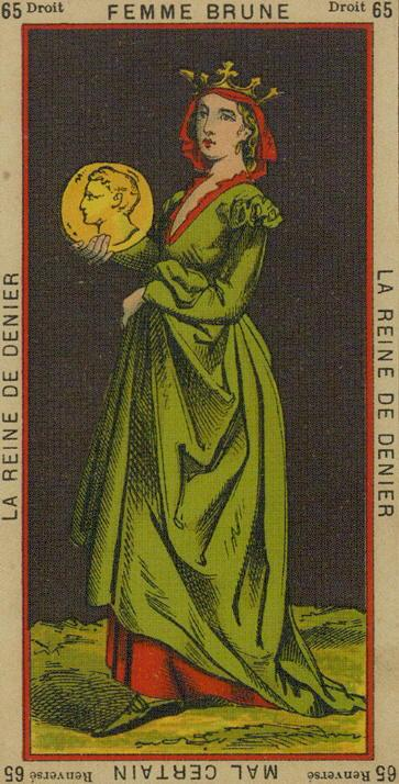 65 Queen of Coins The Etteilla Tarot The Book of Thoth