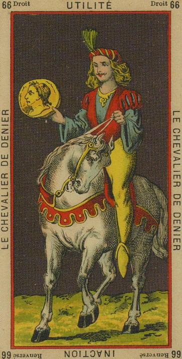 66 Knight of Coins The Etteilla Tarot The Book of Thoth