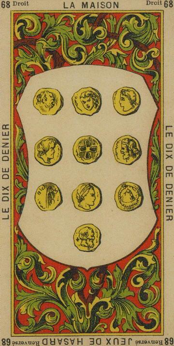 68 10 of Coins The Etteilla Tarot The Book of Thoth