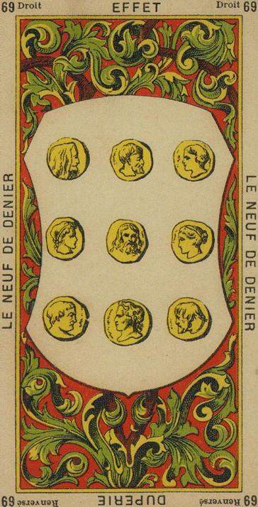 69 9 of Coins The Etteilla Tarot The Book of Thoth