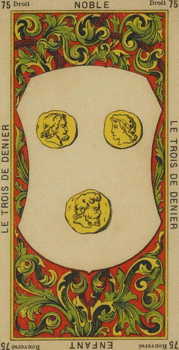 75 3 of Coins The Etteilla Tarot The Book of Thoth