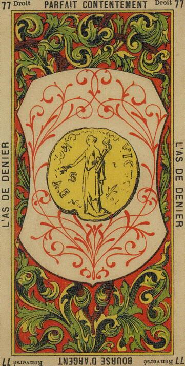 77 Ace of Coins The Etteilla Tarot The Book of Thoth